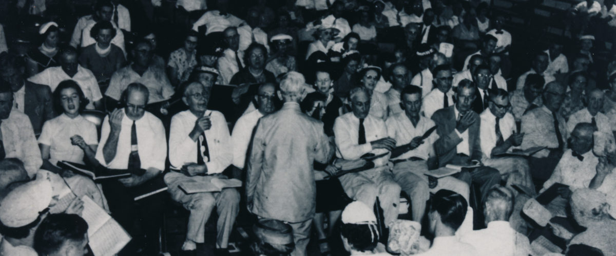 1956, Image of the Chattahoochee Sacred Harp Convention held at the State University of West Georgia