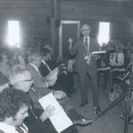 1978, Image of Holly Springs Community singing Sacred Harp