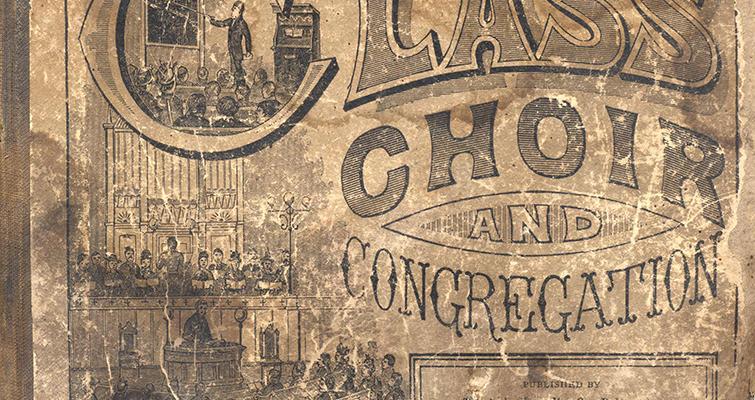 "A.J. Showalter's ""Class Choir and Congregation"" in an oblong format, Bookcover"